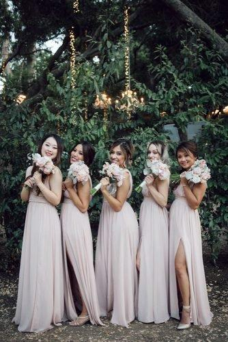 wedding colors 2019 dusty rose bridesmaids dress yunis chen photography