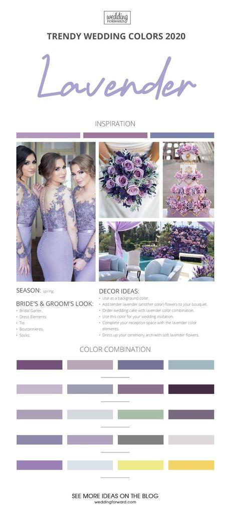 wedding colors 2020 lavender wedding color