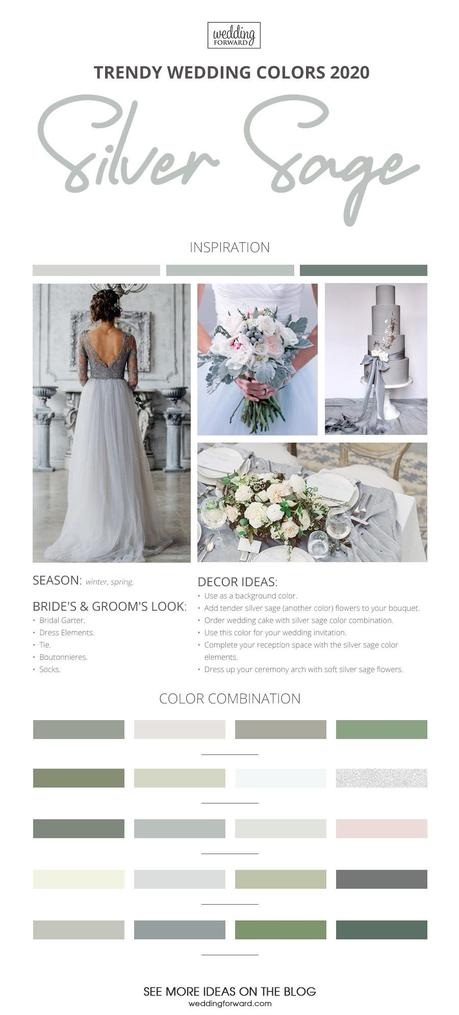 wedding colors 2020 silver sage wedding theme colors