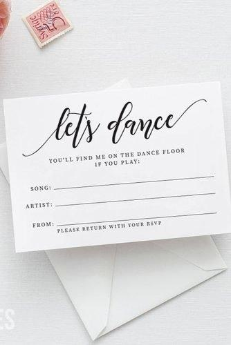 cute wedding ideas song request rsvp