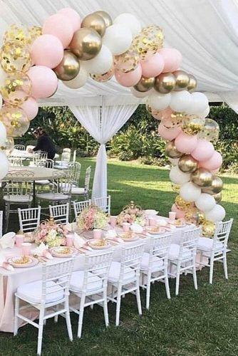 cute wedding ideas wedding shower at backyard