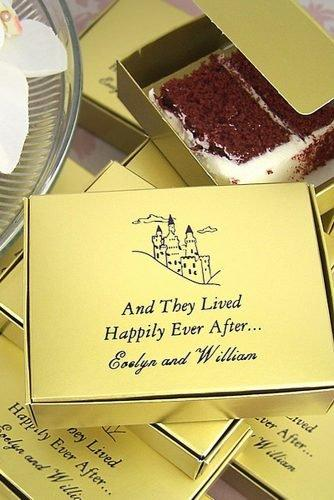 cute wedding ideas wedding cake to go boxes