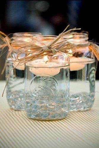 cute wedding ideas floating candle holders
