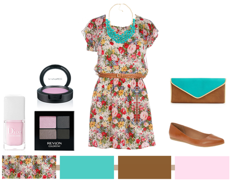 Floral + Camel + Turquoise…