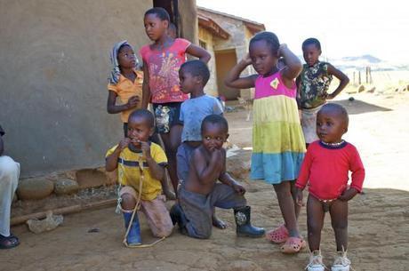 zulu village children