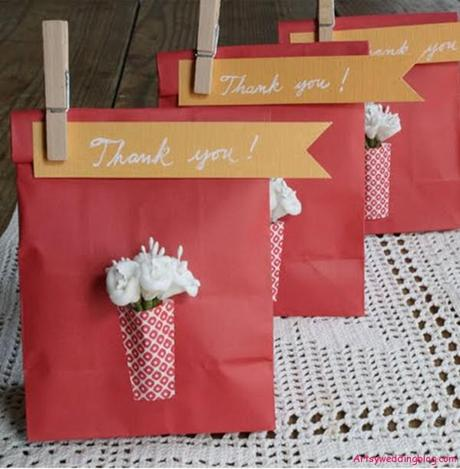 Unique Wedding Gift Bag Ideas : ... are some materials that you will need for your paper vase favor bags