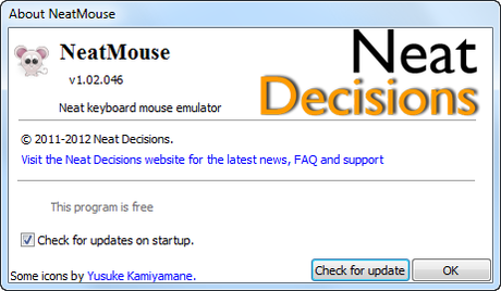 NeatMouse About Box