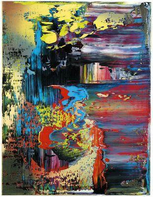 Gerard Richter, abstract art, contemporary art, art auctions, Christies