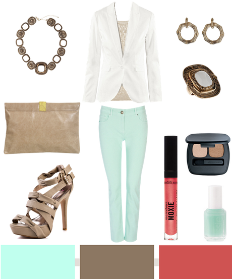 Mint + Taupe + Rose…