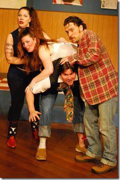 Christine Jennings as Leanne, Shannon O'Neill as Connie, Phil Claudnic as Drew and Jordan Hoisington as Lonnie.  Photo by Paul Metreyeon.