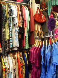 Thrift store vintage clothing