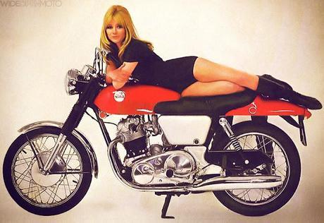 Norton Fastback Girl