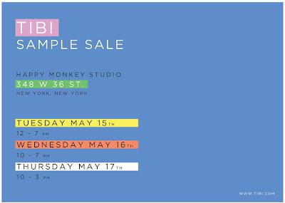 NYC Sale Alert | Tibi Sample Sale