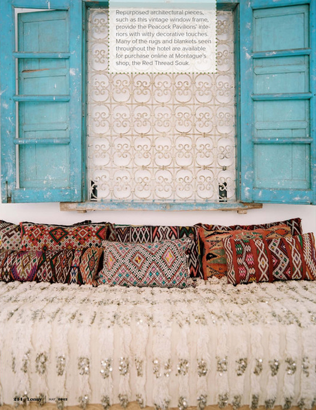 The talented Maryam of My Marrakesh reveals Peacock Pavillions to Lonny Mag