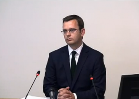 Andy Coulson gives evidence
