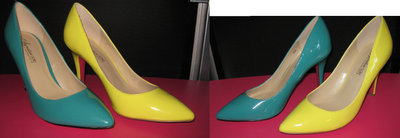 Shoedazzle - Julia in Yellow and Turquoise