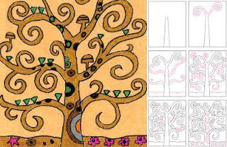Draw Klimt S Tree Of Life Paperblog