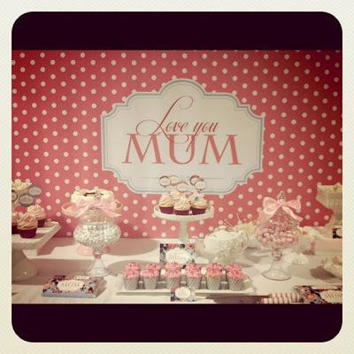 Mother's day Cake by Sugary Goodness and our Sweet Mother's day table!