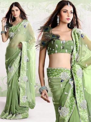 Peacock Designs Bridal Saree Collection 2012