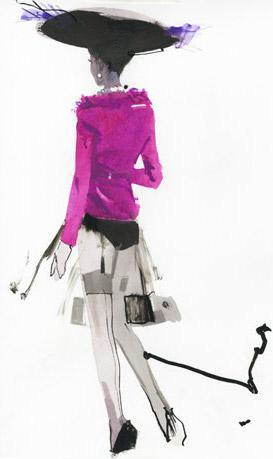david-downton-fashion-illustration-magenta-jacket-hat