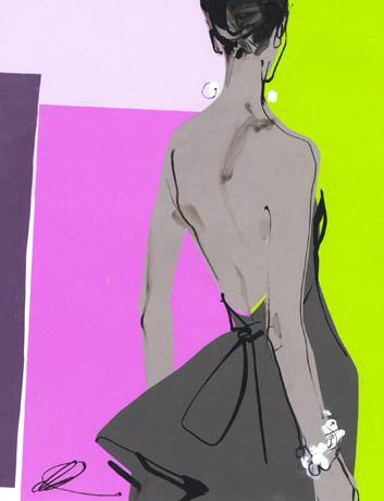 david-downton-fashion-illustration-gray-dress-purple-green