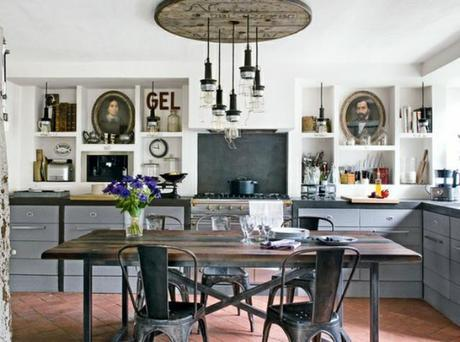 {guest post} industrial touches in the kitchen