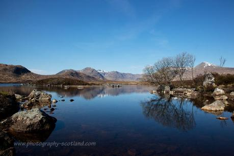 Landscape photo - Loch na h-Achlaise on Rannoch Moor in the Highlands of Scotland
