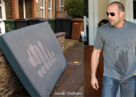 Jason Statham looking very like a mattress