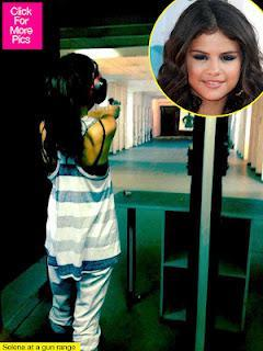Selena Gomez Loves Shooting Guns