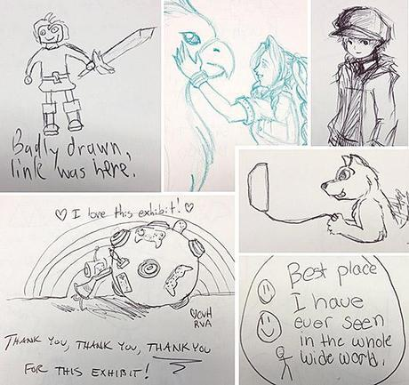 Sketches from The Art of Video Games comment books