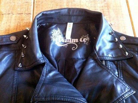 DIY studded jacket
