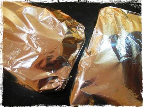 Covering the waterbaths with foil