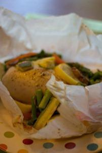 Chicken and Veggie in Parchment (1 of 2)