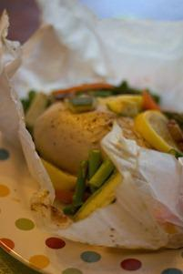 Chicken and Veggie in Parchment (2 of 2)
