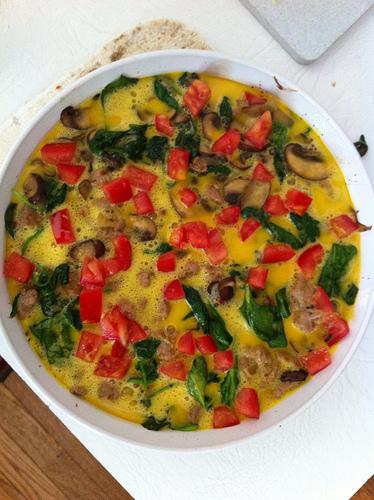 Frittata- Everything but the kitchen sink! (pre-baked)