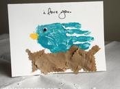 Easy DIY: Mother's Handprint Bird Card