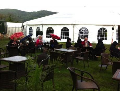 grey weather at the malvern spring show