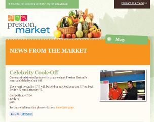 Preston Market Email Newsletter