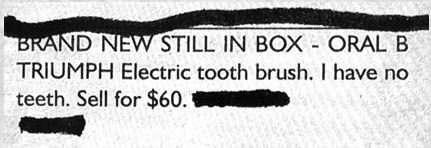 Oral B Triumph Electric Tooth Brush
