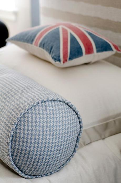 Finnian's Moon DC Design House blue houndstooth union jack