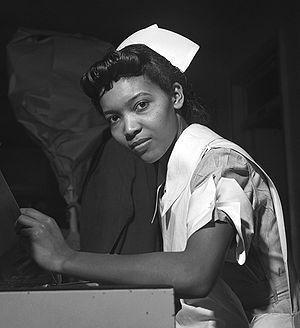 The American student nurse Miss Lydia Monroe o...