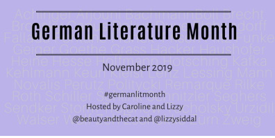 Welcome to German Literature Month IX 2019