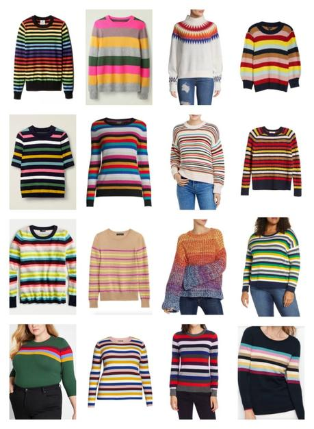 Sunshine on a Rainy Day: The Best Striped Sweaters