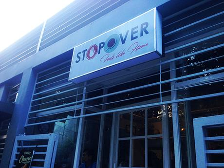 StopOver cafe signage