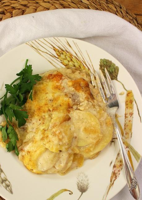 Creamy Potato and Apple Gratin