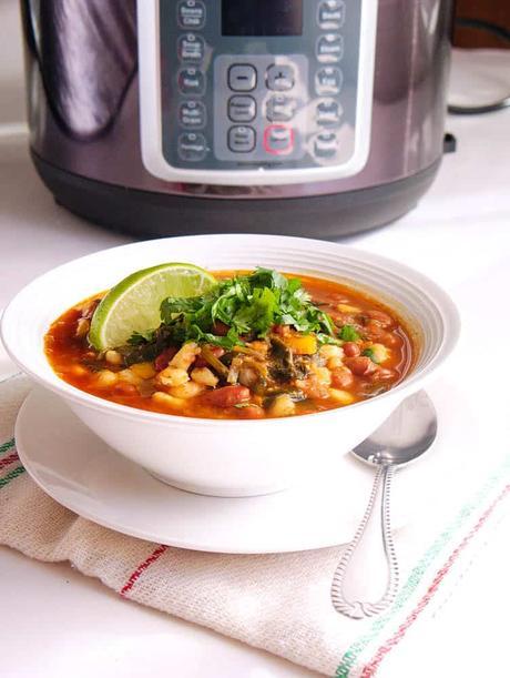 Instant Pot Pinto Beans Vegan Posole