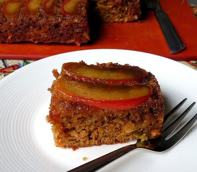 Upside-down Toffee Apple Brownies