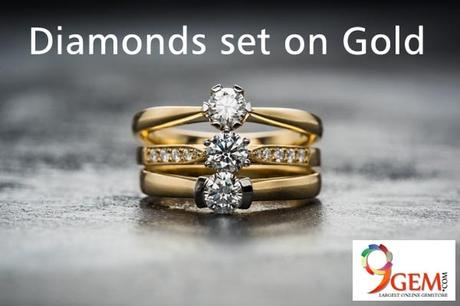 Diamonds and Gold Jewellery