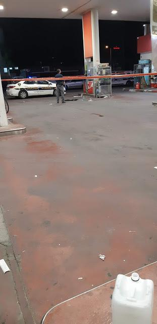 shooting by the gas station!