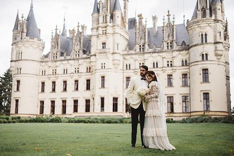 Jewish fairytale styled shoot in purple hues at the Chateau Challain
